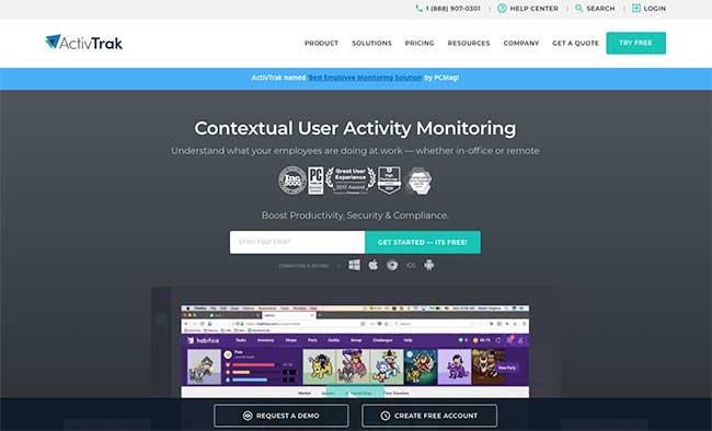 ActivTrak Monitoring for Employee