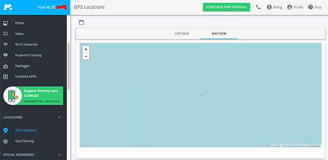 Step 2: Access your Control Panel and Track the Location Remotely