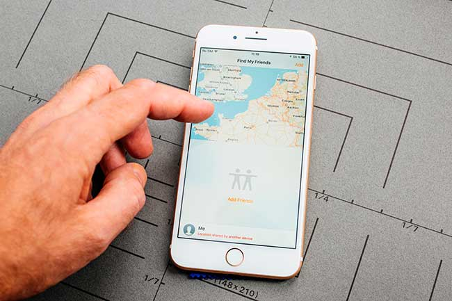 Using the Find My Friends app, you can possibly do this and track just any phone you want.