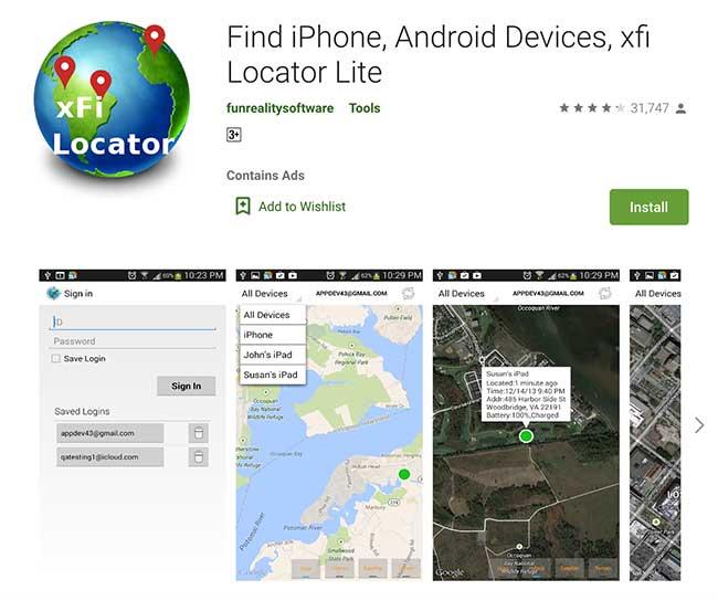 xFi Locator App