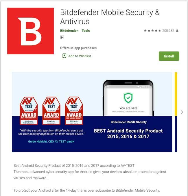 Bitdefender App Parental Control