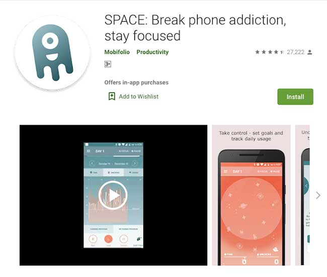 BreakFree SPACE App