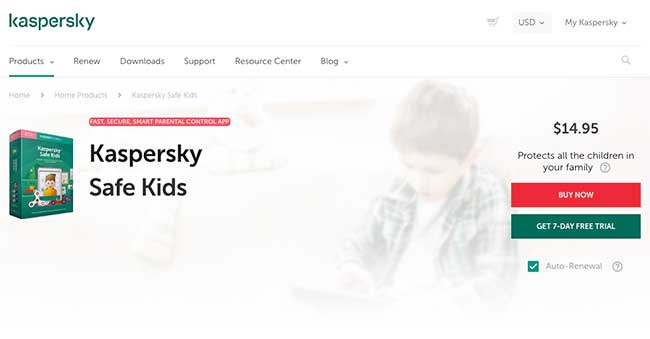Kaspersky SafeKids: Parental Control for Android