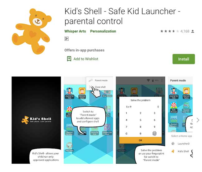 Kids Shell App – Kid Launcher